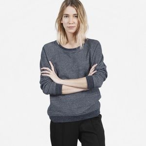 Everlane Heather Blue Crew Pullover Sweatshirt